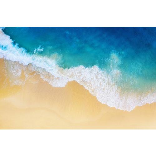Karo-art Fotobehang - Golven strand