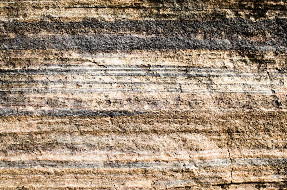Karo-art Fotobehang - Geologische lagen