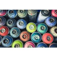 Karo-art Fotobehang - Gekleurde spuitbussen