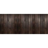 Karo-art Fotobehang - Houten planken donkerbruin