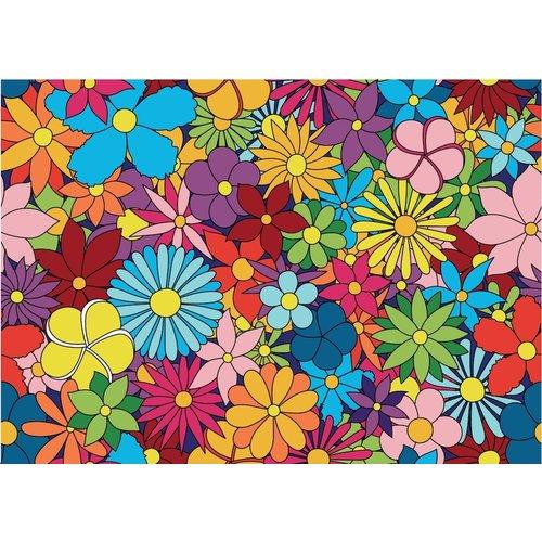 Karo-art Fotobehang - kleurrijke bloemen