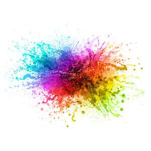 Karo-art Fotobehang - kleurrijke explosie