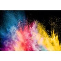 Karo-art Fotobehang - kleurrijke explosie II