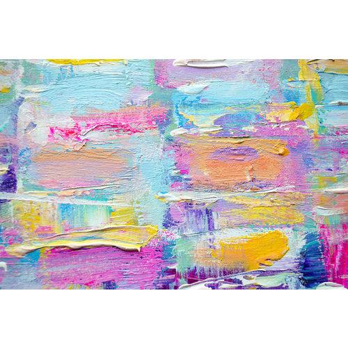 Karo-art Fotobehang - kleurrijke abstract