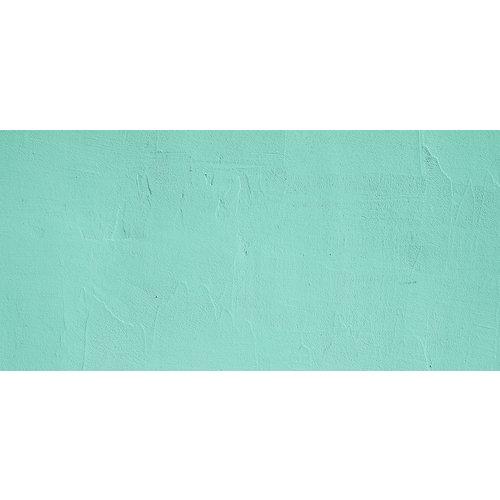 Karo-art Fotobehang - Mintgroene gipsmuur