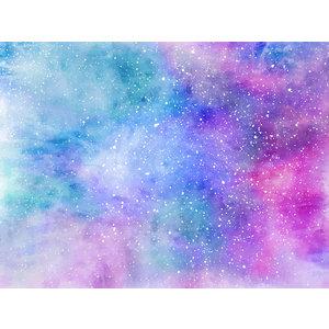 Karo-art Fotobehang - Pastel abstract