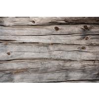 Karo-art Fotobehang - Onbehandelde houten muur