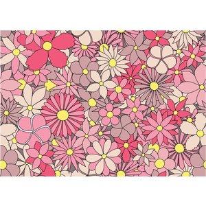 Karo-art Fotobehang - Roze bloemen