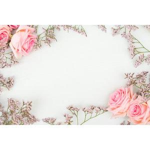 Karo-art Fotobehang - Roze rozen