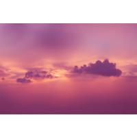 Karo-art Fotobehang - Roze wolken