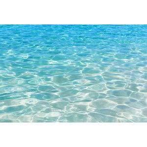 Karo-art Fotobehang - Stralend blauw water