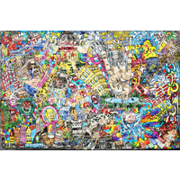 Karo-art Fotobehang - Urban graffiti op bakstenen muur