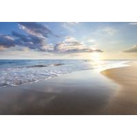 Karo-art Fotobehang - Zonsondergang op het strand III