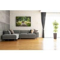 Karo-art Schilderij - Hert in bos, Groen,  2 maten, Premium print