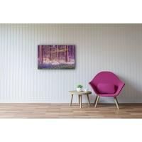 Karo-art Schilderij - Magisch bos, Paars,  2 maten, Premium print