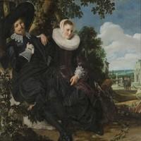 Karo-art Frans Hals- Portret van een stel, premium print, 2 maten