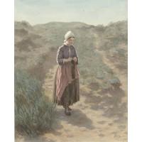 Karo-art David Adolph Constant Artz - In de duinen te Zandvoort, premium print, 70x90cm