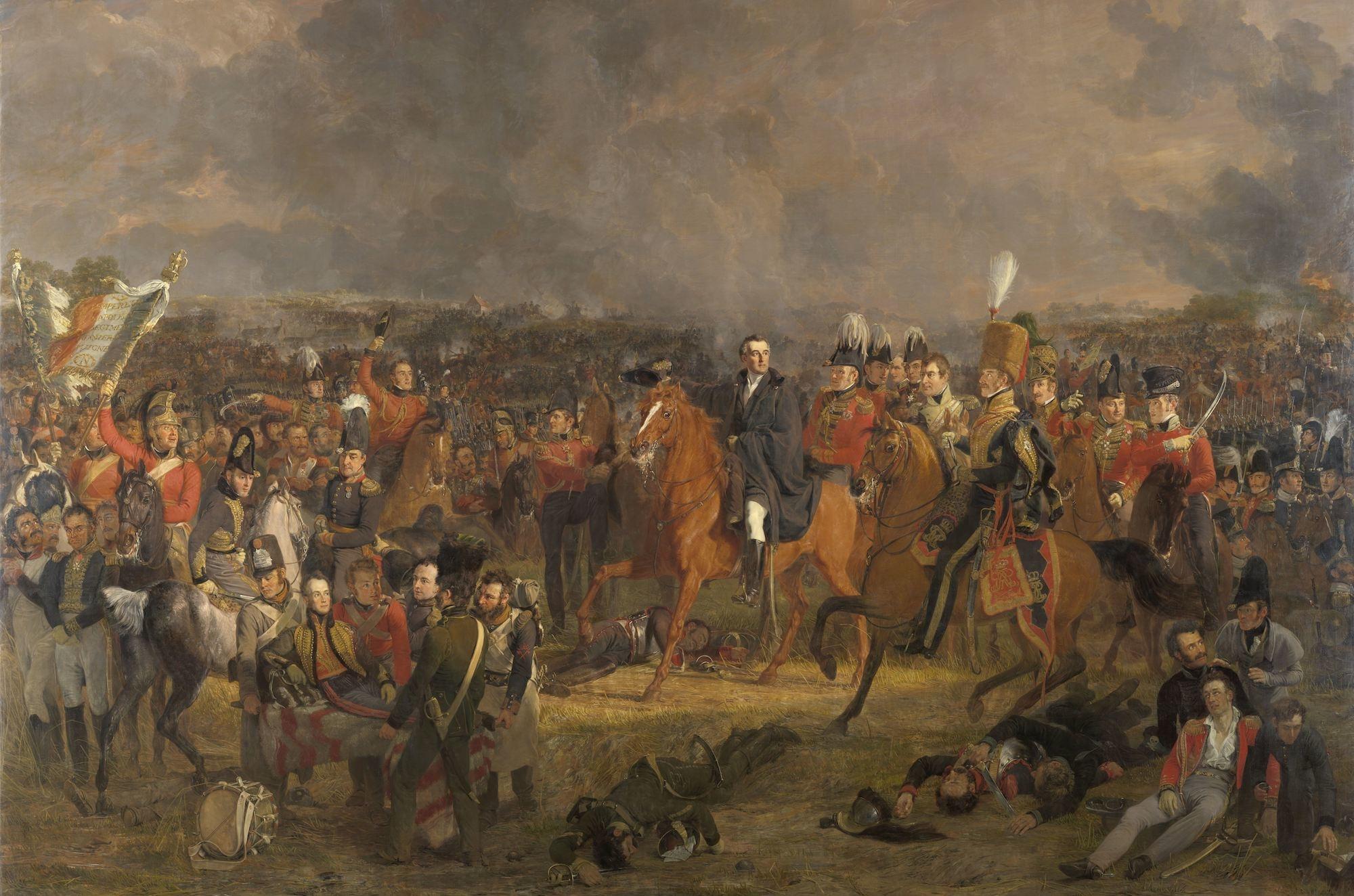 Jan Willem Pieneman - De Slag bij Waterloo, 120x80cm Rijksmuseum