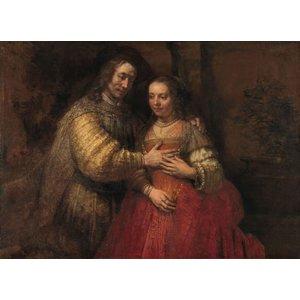Karo-art Rembrandt van Rijn - Isaak en Rebekka, bekend als Het Joodse bruidje 120x90cm  Rijksmuseum