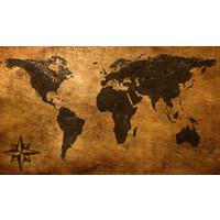Karo-art Schilderij - Oude wereldkaart,  120x70, Premium print