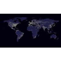 Karo-art Schilderij - Verlichte wereld,  120x60, Premium print