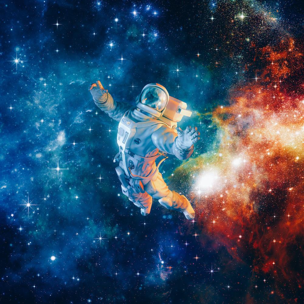 Karo-art Schilderij - Astronaut , 3 Maten, Premium print