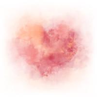 Karo-art Schilderij - Aquarel hart , 3 Maten, Premium print