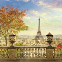 Karo-art Schilderij - Eiffeltoren Parijs , 3 Maten, Premium print