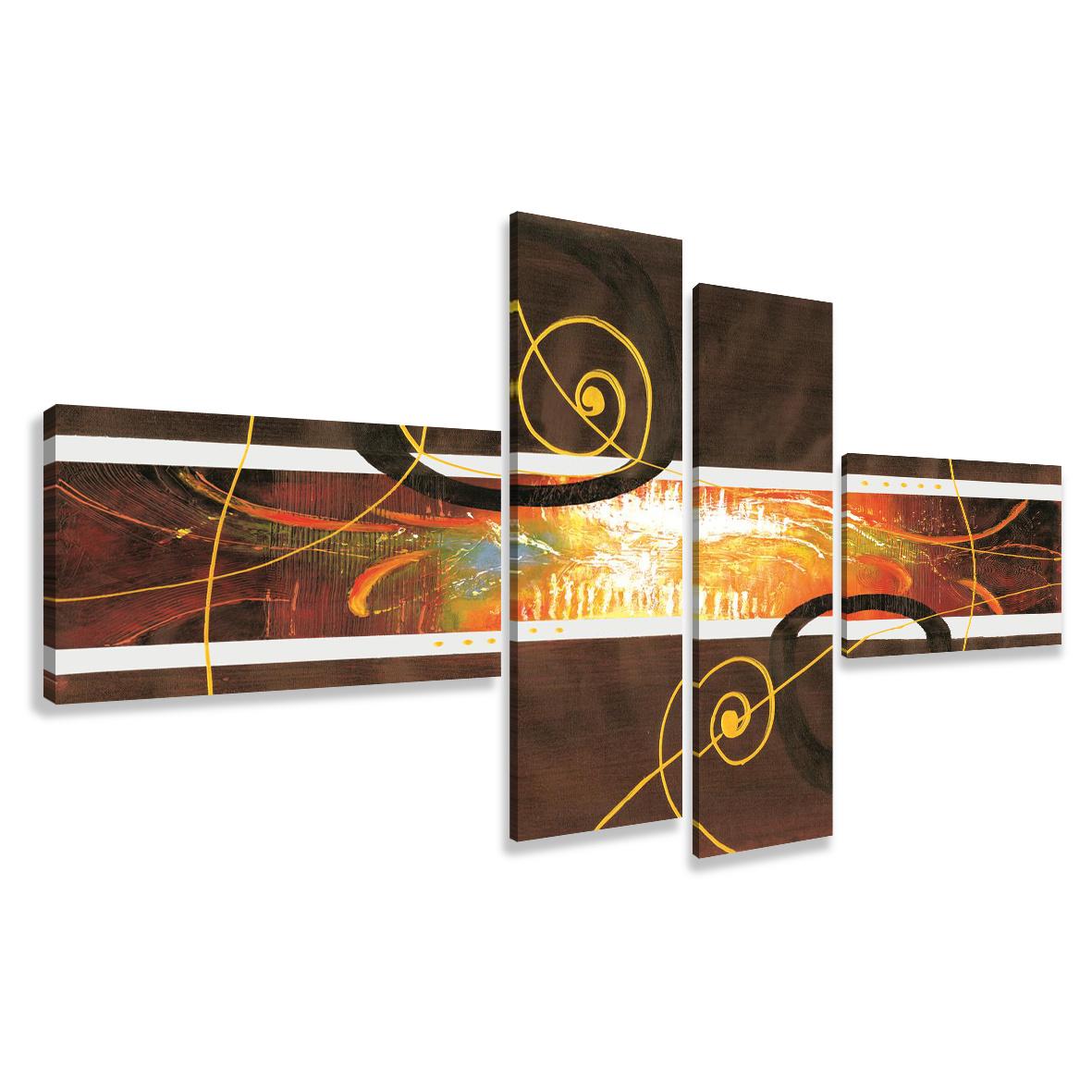 Schilderij - ingelijste kunststijl, 4luik, 195x80cm, wanddecoratie