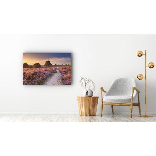 Karo-art Schilderij - Zonsondergang in duinen,  2 maten, Premium print