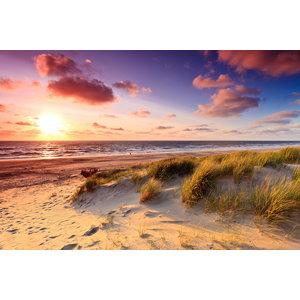 Karo-art Schilderij - Zee, zon, duinen,  2 maten, Premium print