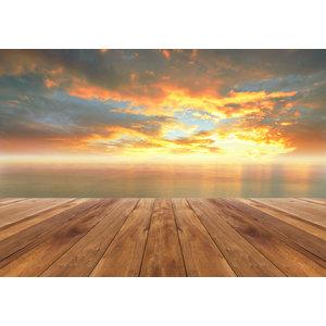 Karo-art Schilderij - Uitzicht op zee,  2 maten, Premium print