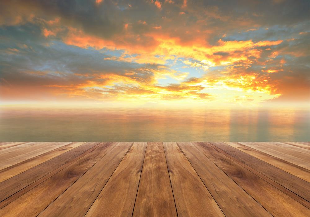 Schilderij - Uitzicht op zee, 2 maten, Premium print