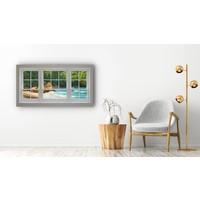 Karo-art Schilderij - Uitzicht op kustlijn,  2 maten, Premium print