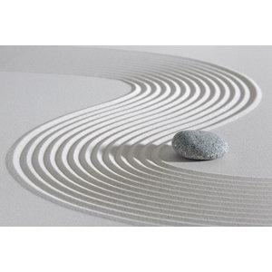 Karo-art Schilderij - Japanse Zen tuin,  2 maten, Premium print, wanddecoratie