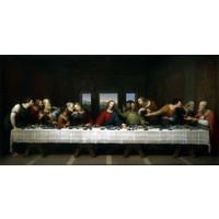 Schilderij - Last supper, Laatste avondmaal, Leonardo da Vinci, reproductie, 2 maten