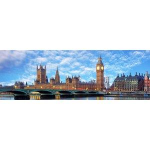 Karo-art Schilderij - The Big Ben, Londen , panorama, premium print,  2 maten