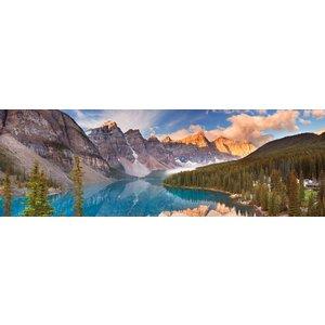 Karo-art Schilderij - Morene Meer, Nationale park van Banff, Canada, panorama,  2 maten