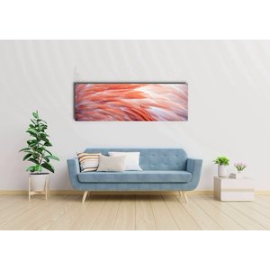 Karo-art Schilderij -Flamingo veren, roze,  Premium print  (wanddecoratie)