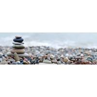 Karo-art Schilderij -Gestapelde stenen, Zen, inspiratie,  Premium print  (wanddecoratie)
