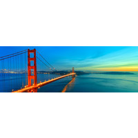 Karo-art Schilderij -Golden Gate Bridge, san Francisco, USA, panorama, premium print print