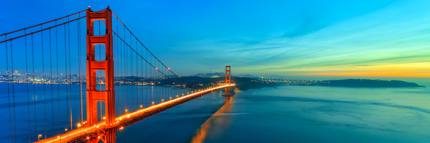 Schilderij -Golden Gate Bridge, san Francisco, USA, panorama, premium print print