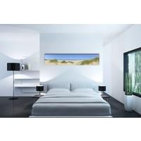 Karo-art Schilderij -Tussen de duinen en zicht op de Noordzee  , 150x30cm