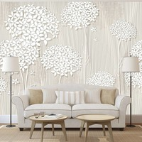 Fotobehang - Bomen in het wit , 400x280cm