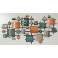Frame 3D art - Abstracte Stad 146X77cm