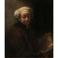 Karo-art Schilderij - Rembrandt van Rijn, Zelfportret als de apostel Paulus, 1661, 80x100cm