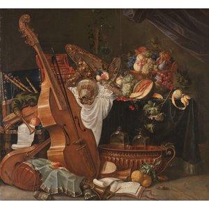 Karo-art Schilderij - Johann Friedrich Grueber, Stilleven, 1662 - 1681, 100x90cm