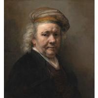 Karo-art Schilderij - Rembrandt van Rijn, Zelfportret, 1669, 90x100 cm