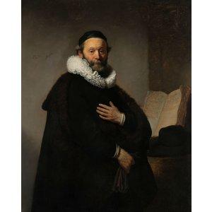 Karo-art Schilderij - Rembrandt van Rijn, Johannes Wtenbogaert, 1633, reproductie, 80x100cm