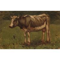 Karo-art Schilderij - Anton Mauve, Koe, 1860 - 1888, reproductie, 90x60cm